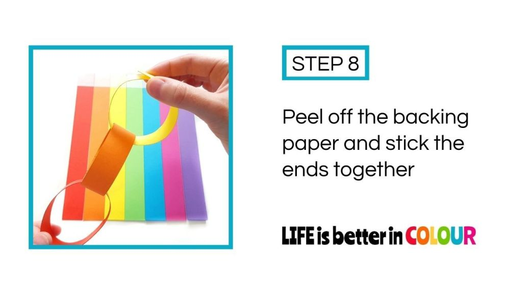 LIFE is better in COLOUR Paper Chain Kit