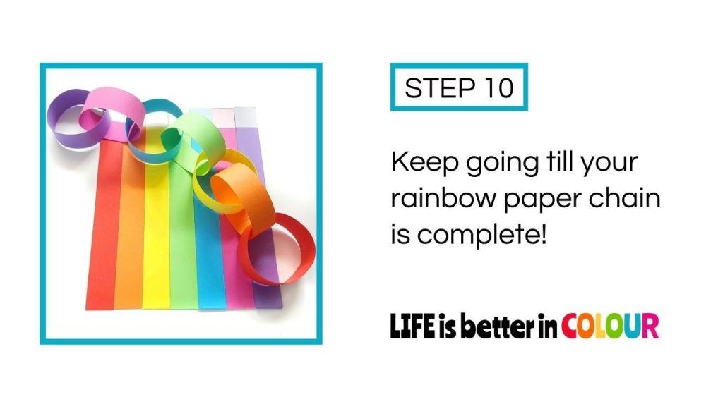 Rainbow Paper Chain Decoration