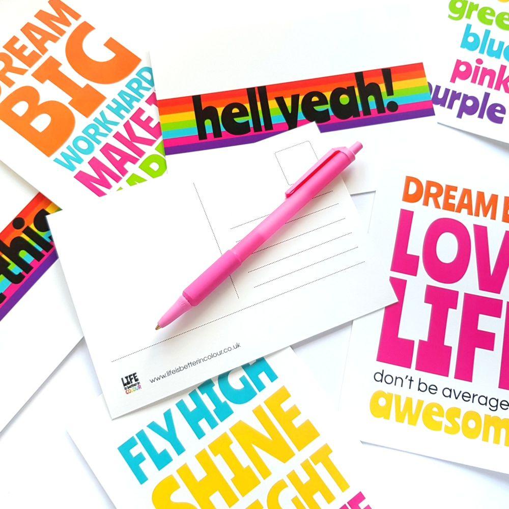 Positive Postcards - Set of 8