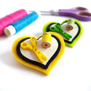 Love to Sew Heart Brooch