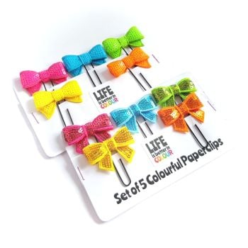 Set of 5 Colourful Paperclips