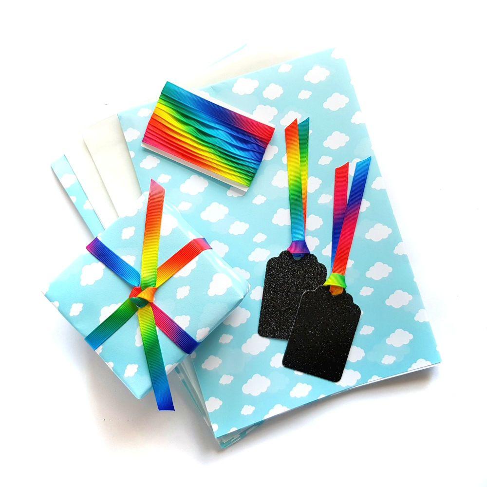 Cloud Print Gift Wrap Set
