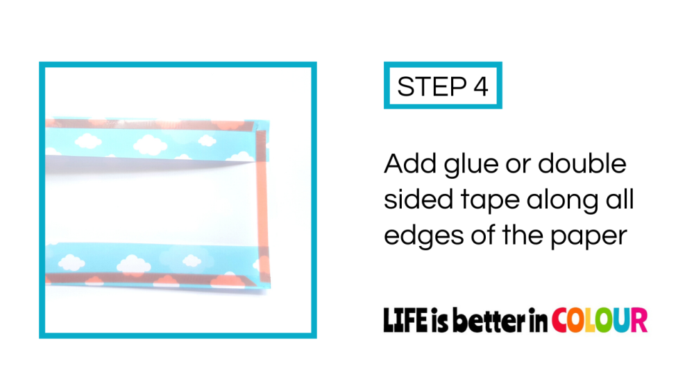 Adding Glue to the Wrapping Paper