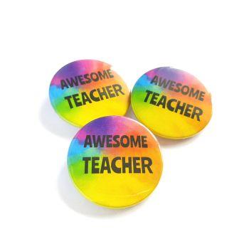 Awesome Teacher Rainbow Badge