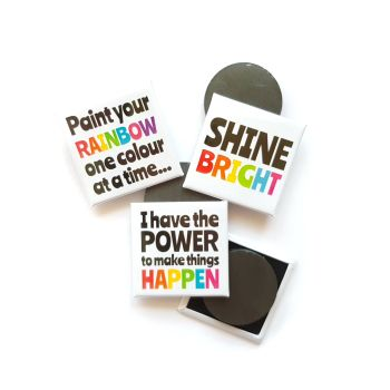 Rainbow Magnet with Positive Quote