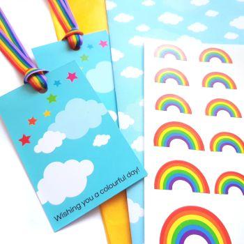 Sunshine and Rainbows Gift Wrap Set