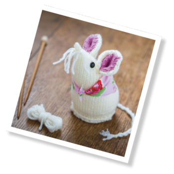 Crafty Kit - Mouse Knitting Kit