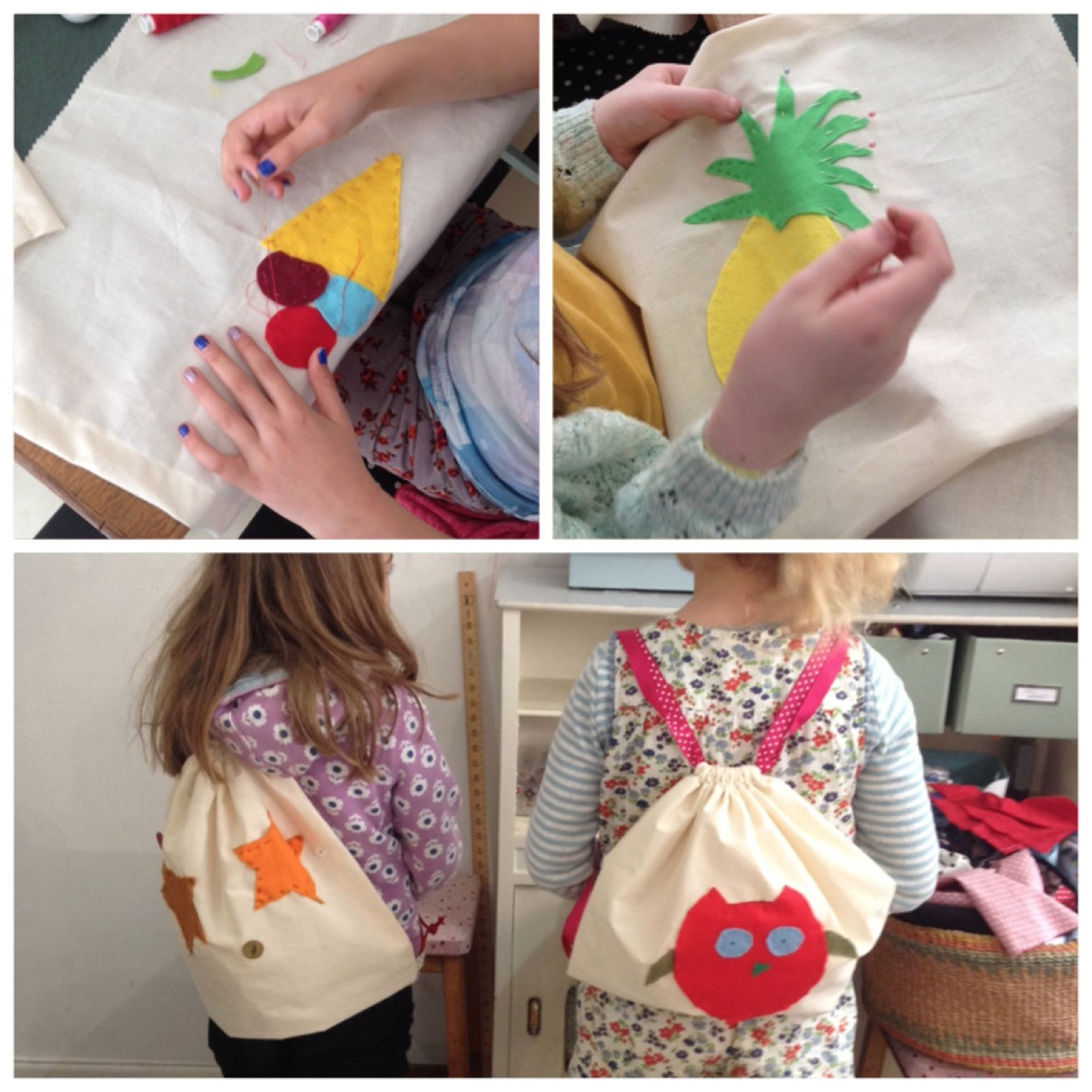 Children's sewing workshops and parties at Flo-Jo.