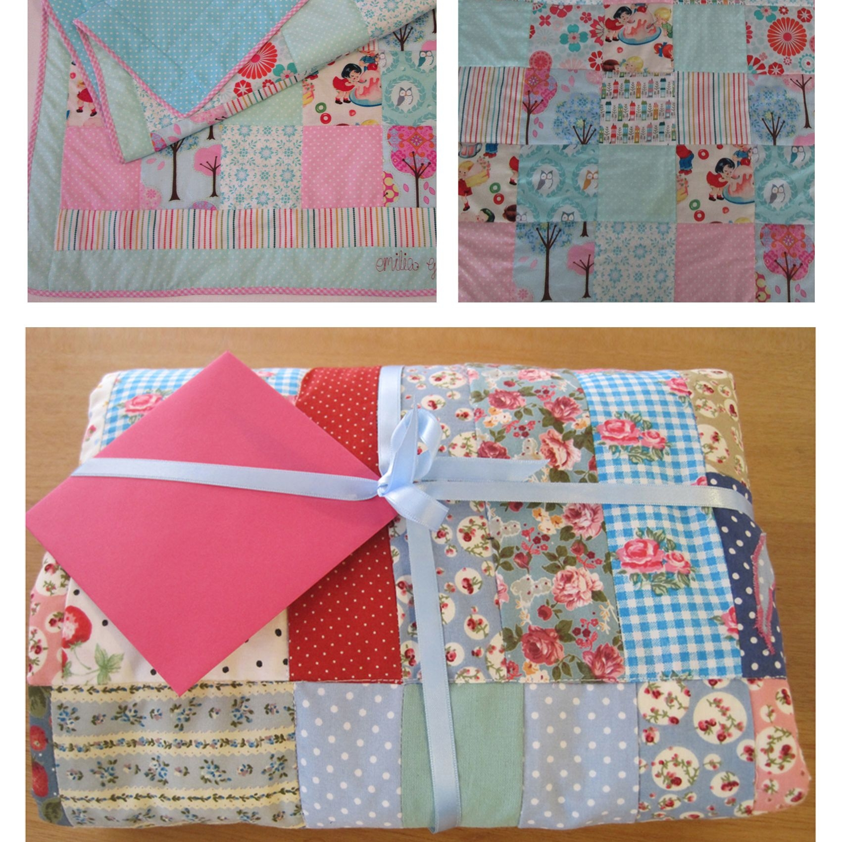 Baby showers, cot quilts in the Flo-Jo workshop.