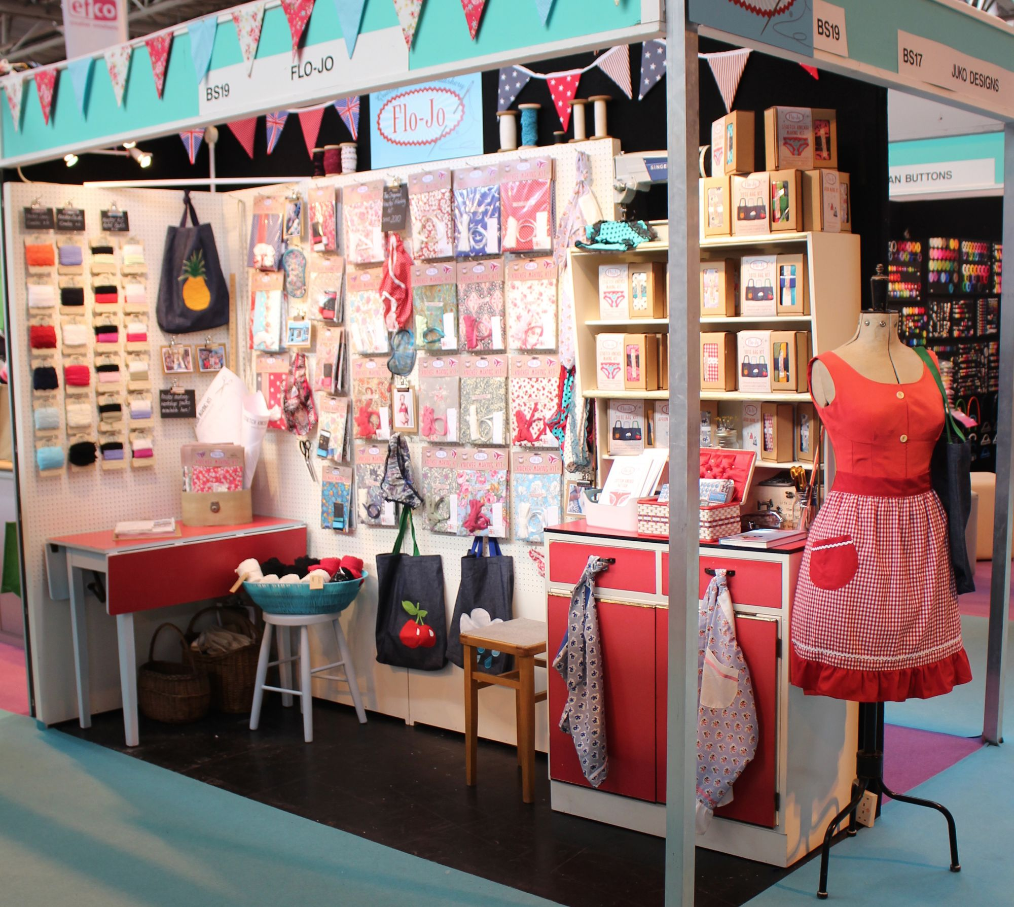 Flo-Jo stand at NEC Trade show