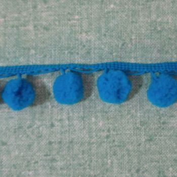 Royal Blue Pom Poms