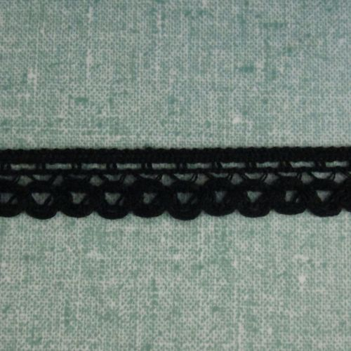 Black Crochet Trim