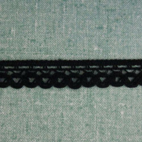 Black Crochet Trim