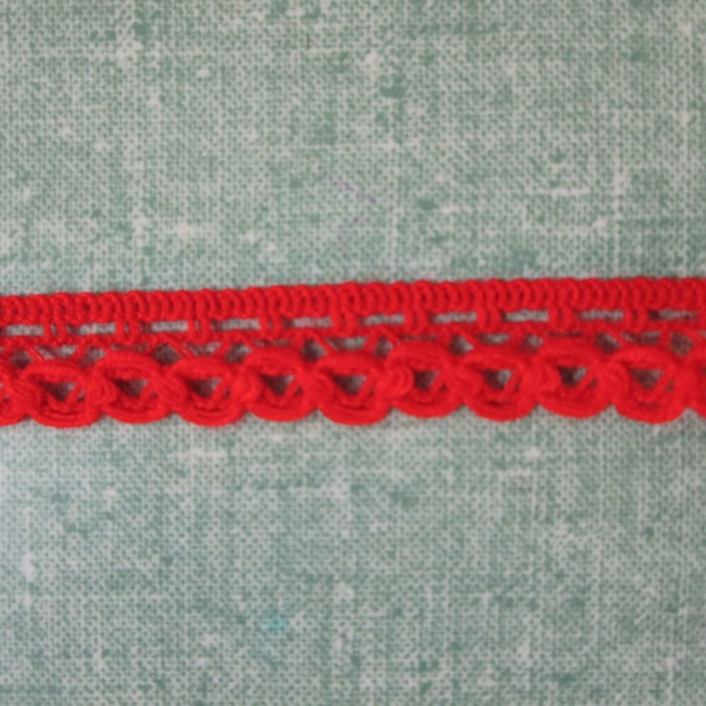 Crochet Trim -  Red
