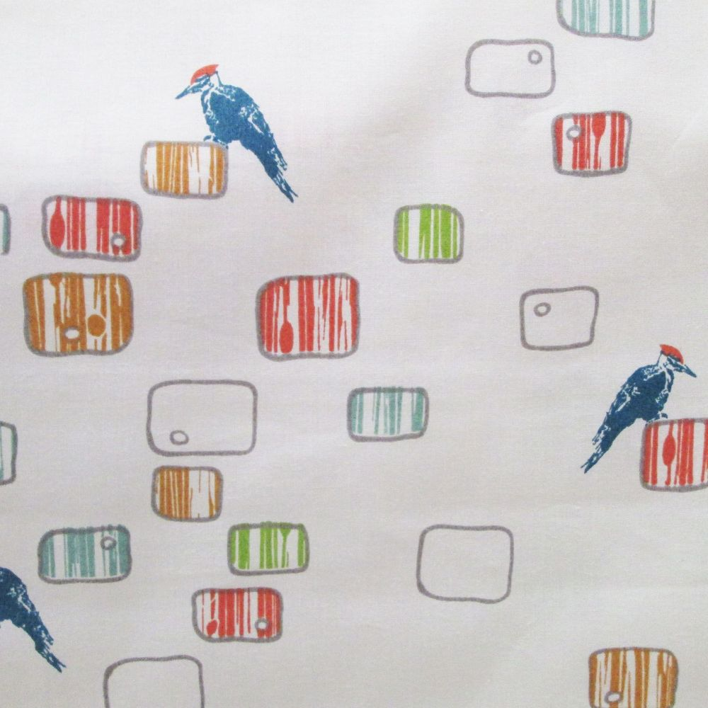 Woody Roost  Birch Organic Cotton Fabric