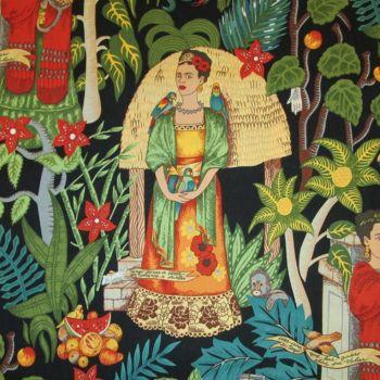 Frida's Garden Black - Alexander Henry Fabric