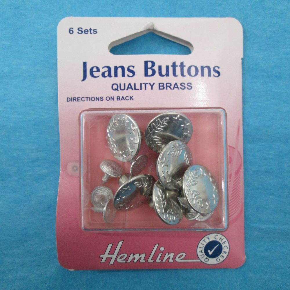 Jeans Buttons Silver