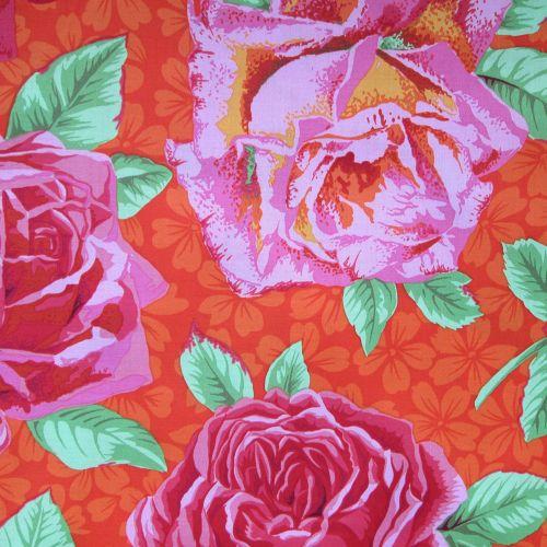 Rose Fabric - by Kaffe Fasset