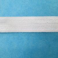 Fold over elastic - white