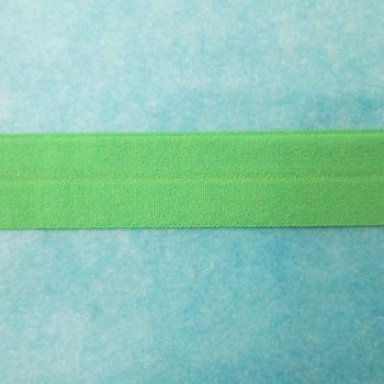 Fold over elastic - green
