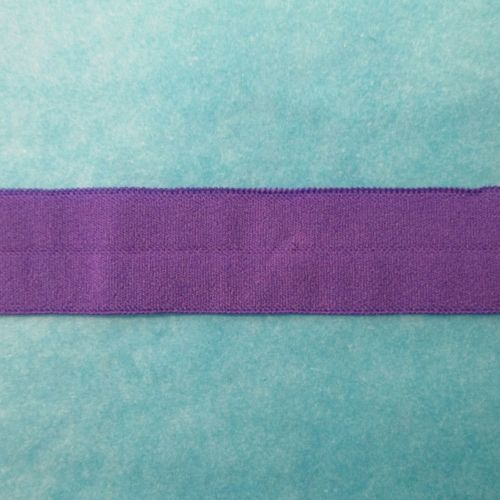 Fold over elastic - purple