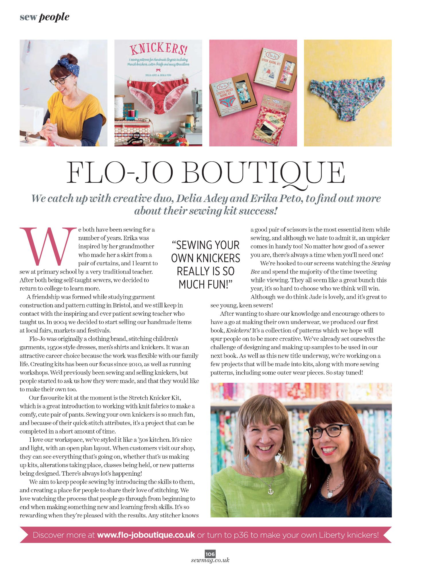 Sew Magazine review of Flo-Jo.