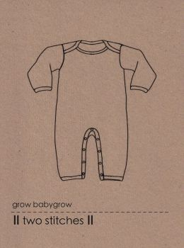 Two Stitches -Baby Grow Sewing Pattern