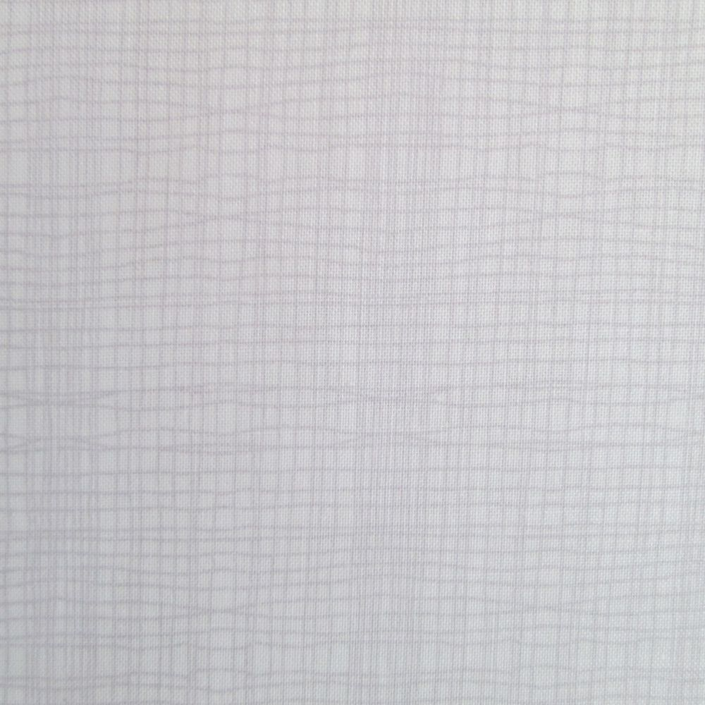 Crosshatch Check Fabric - pale pink