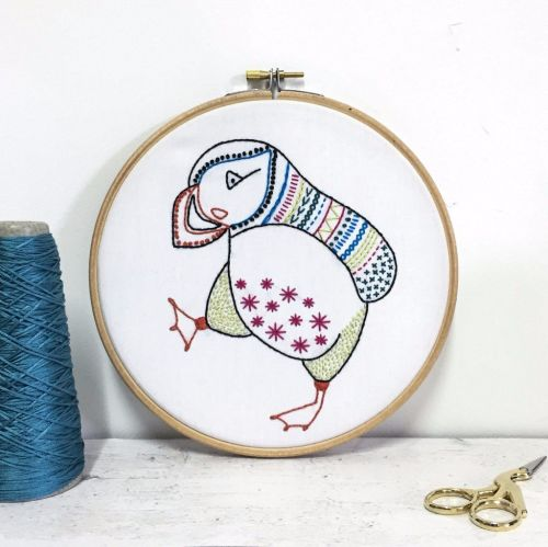 Puffin Embroidery Kits