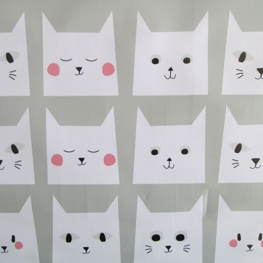 Oilcloth - Pussy Cat Faces
