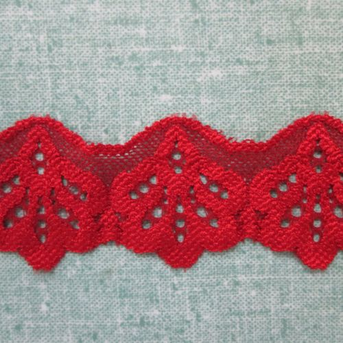 Stretch Lace - Red