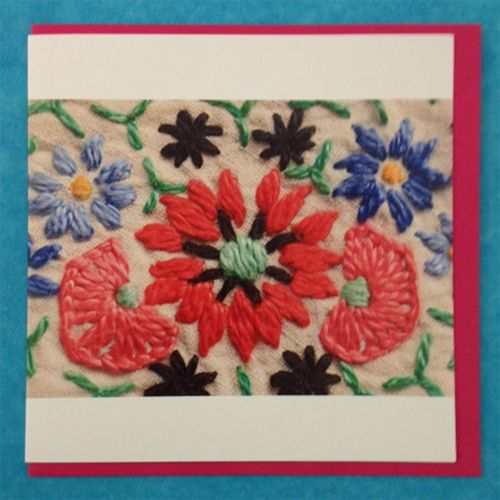 Greetings Card - Embroidery