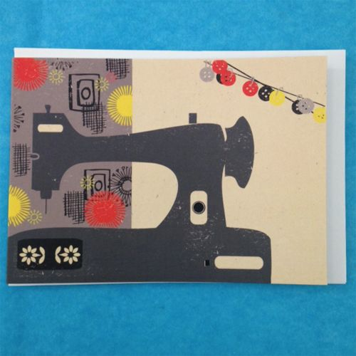 Greetings Card - Sewing Machine