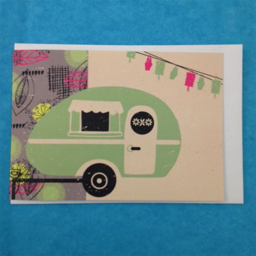 Greetings Card - Teardrop Caravan