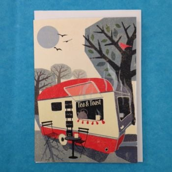 Greetings Card -  Caravan Tea and Toast