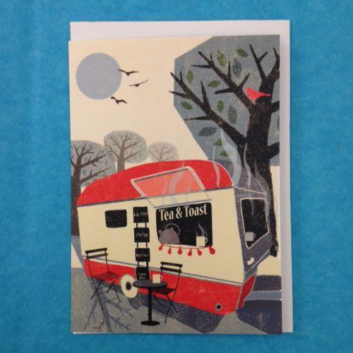 Greetings Card -  Caravan