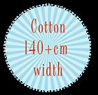 Cotton 140+cm