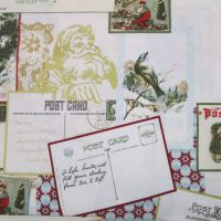 Christmas Fabric - Santa's Postcards ON SALE