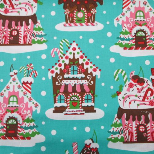 Christmas Fabric - Gingerbread House