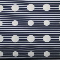 Navy Stripe Swimwear Fabric