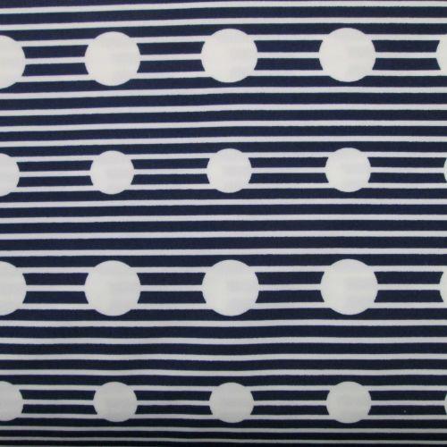 Navy Stripe Swimwear Fabric