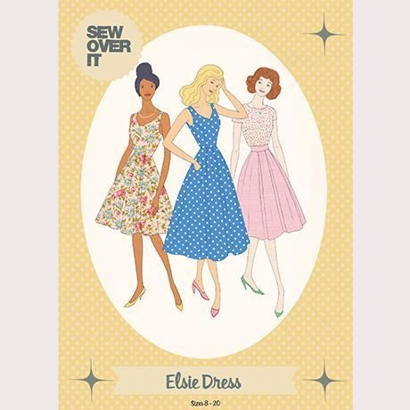 50\'s style dress sewing pattern by Sew Over It independent patterns
