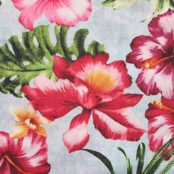 Cotton Lawn Fabric - Hibiscus