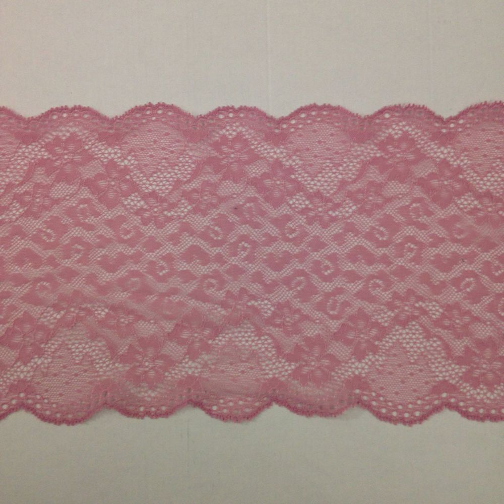 Dusty Pink Stretch Lace