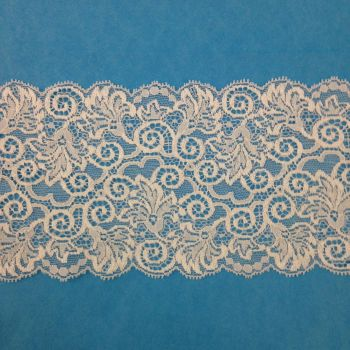 Wide Stretch Lace - Ivory