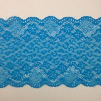 Wide Turquoise Stretch Lace