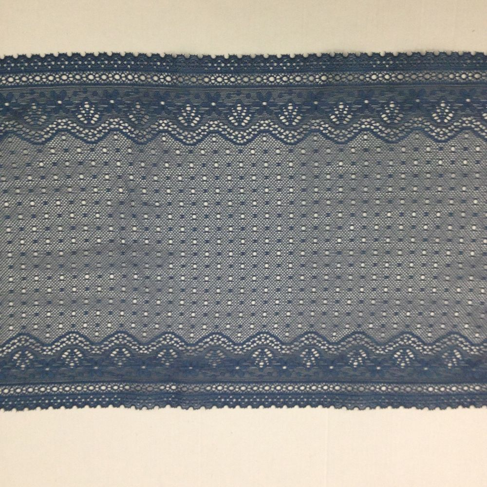 Blue /  Grey Stretch Lace