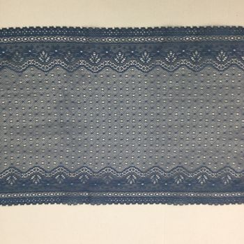 Wide Stretch Lace -Blue/Grey