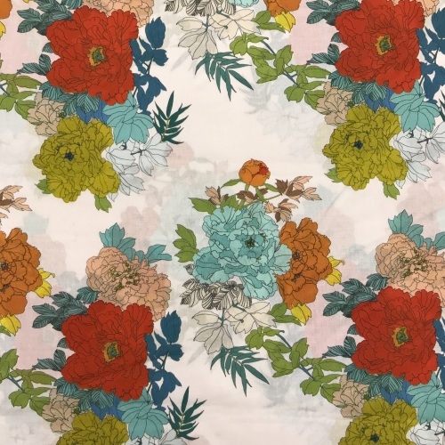 Cotton Lawn Fabric - Jungle Tropics