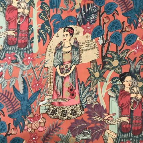 Frida's Garden Terracotta - Frida Kahlo Alexander Henry Fabric